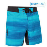 Men's Surfing Boardshorts 500 Short - Fast Blue