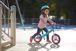 Loopfietsje voor kinderen 10 inch Run Ride blauw/roze - 212208