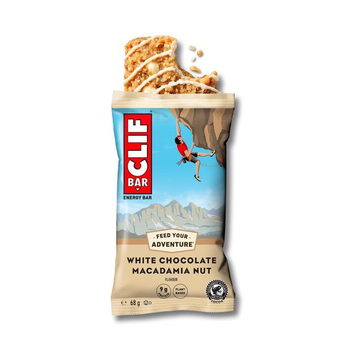 Barre Énergétique CLIF BAR Chocolat blanc & macadamia 12 x (68 g)