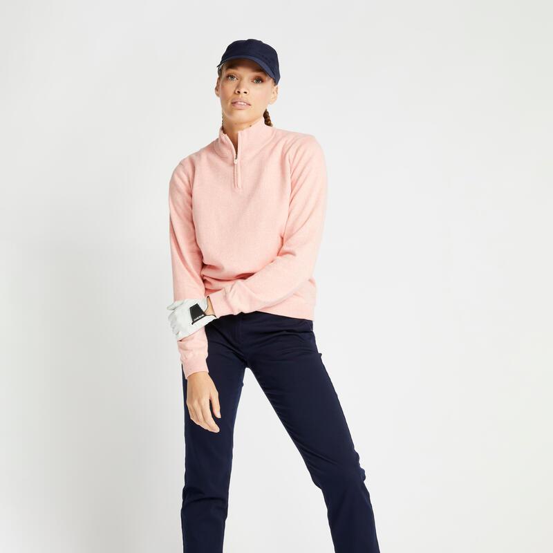 Pull de golf coupe-vent femme MW500 rose