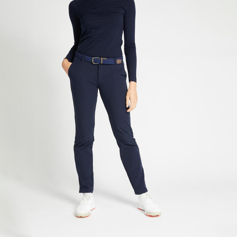 Pantalon de golf hiver femme CW500 bleu marine
