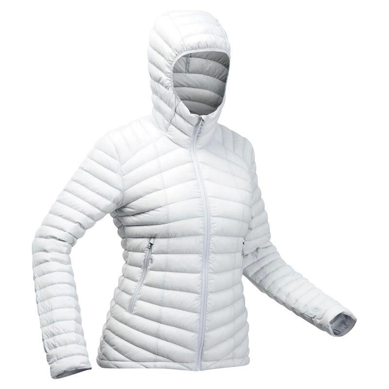 Women's Mountain Trekking Padded Down Jacket TREK 100 -5°C - Light Grey