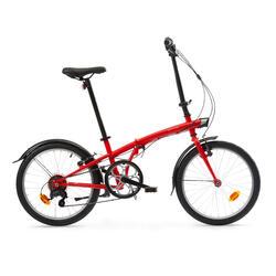 Bici pieghevole OXYLANE 120 rossa