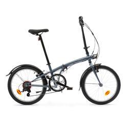 Bici pieghevole OXYLANE 120 grigia