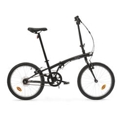 Bici pieghevole OXYLANE 100 nera
