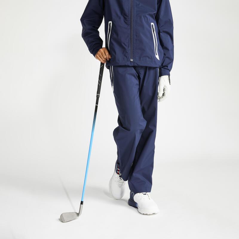 Pantalon Impermeabil Golf RW500 Bleumarin Copii