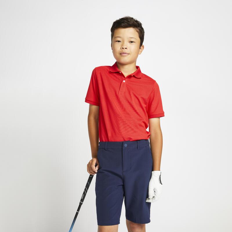 Polo de golf manches courtes enfant MW500 rouge