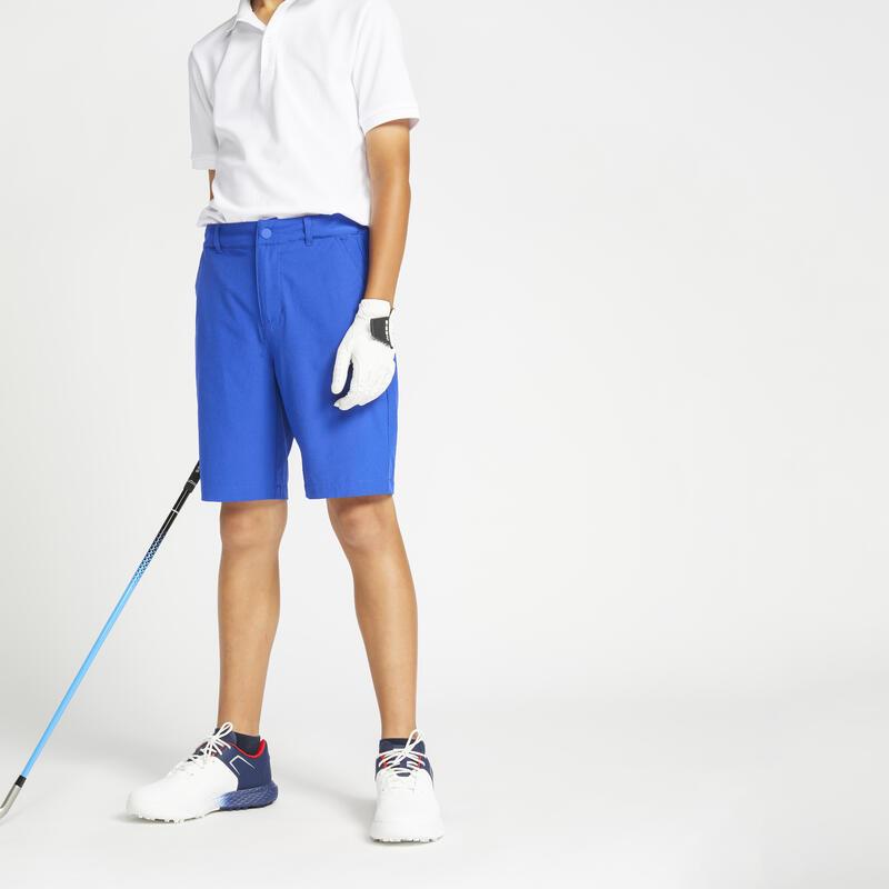Short de golf enfant MW500 bleu