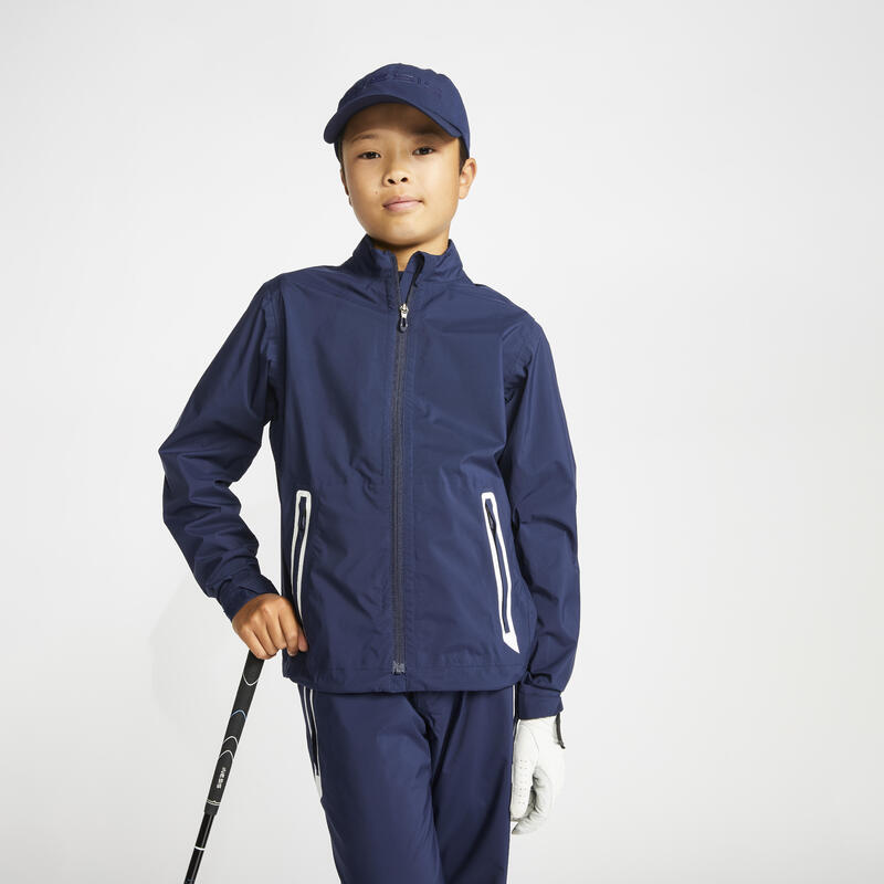 Jachetă Impermeabilă Golf RW500 Bleumarin Copii