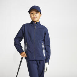 Regenjack voor golf kinderen RW500 marineblauw