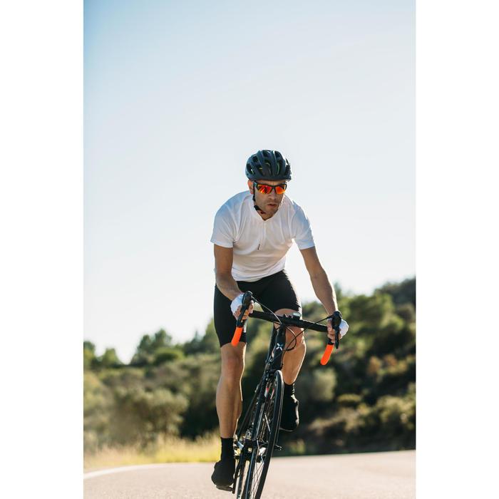 MAILLOT MANGA CORTA CICLISMO CARRETERA HOMBRE ROADCYCLING 100 BLANCO B'TWIN