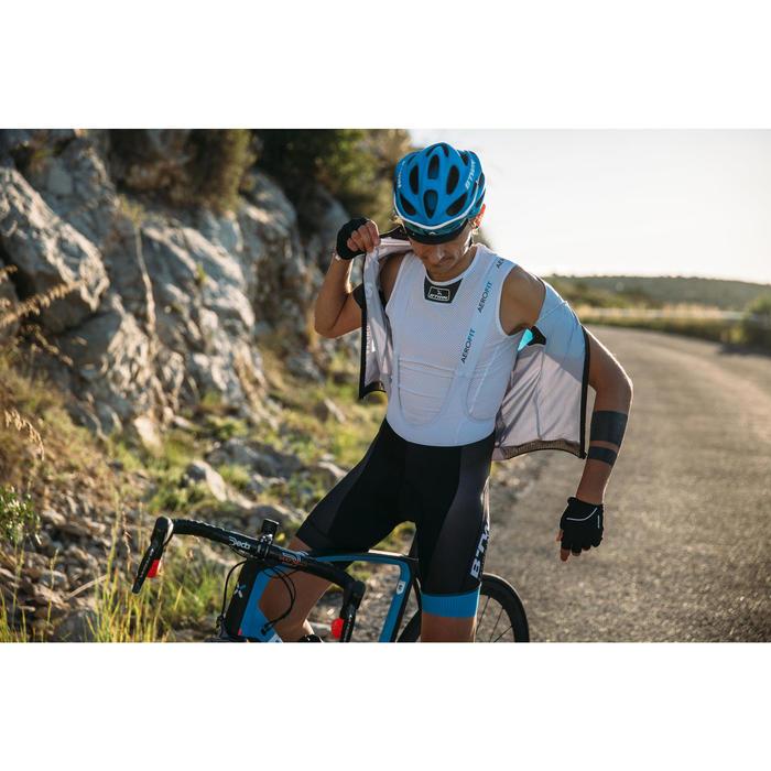 Fahrrad-Unterwäsche Funktionsshirt 500 ärmellos Herren weiß