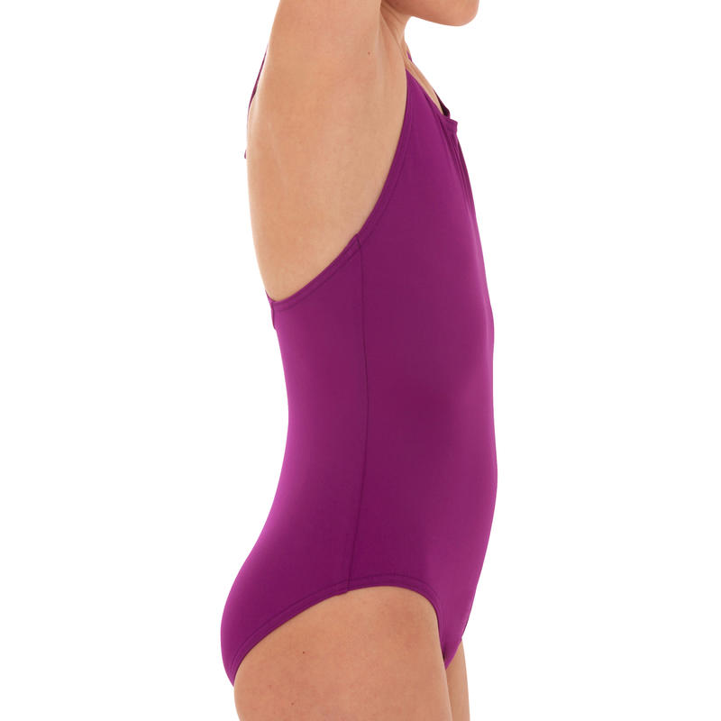 Girls' Swimsuit One-Piece - Leony Purple