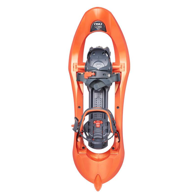 Raquetas de nieve tamiz grande TSL 438 Up&Down Grip naranja