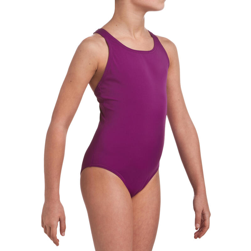 Traje de baño de natación una pieza niña Leony Violeta