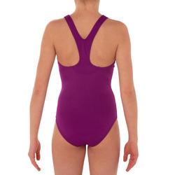 Bañador de natación una pieza niña Leony violeta