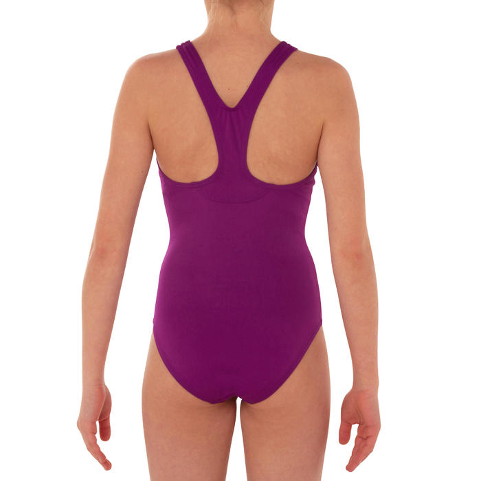 女童單件式泳裝Leony - 紫色