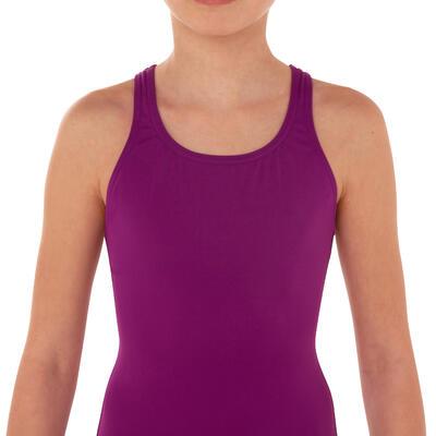 Maillot de bain de natation une pièce fille Leony violet
