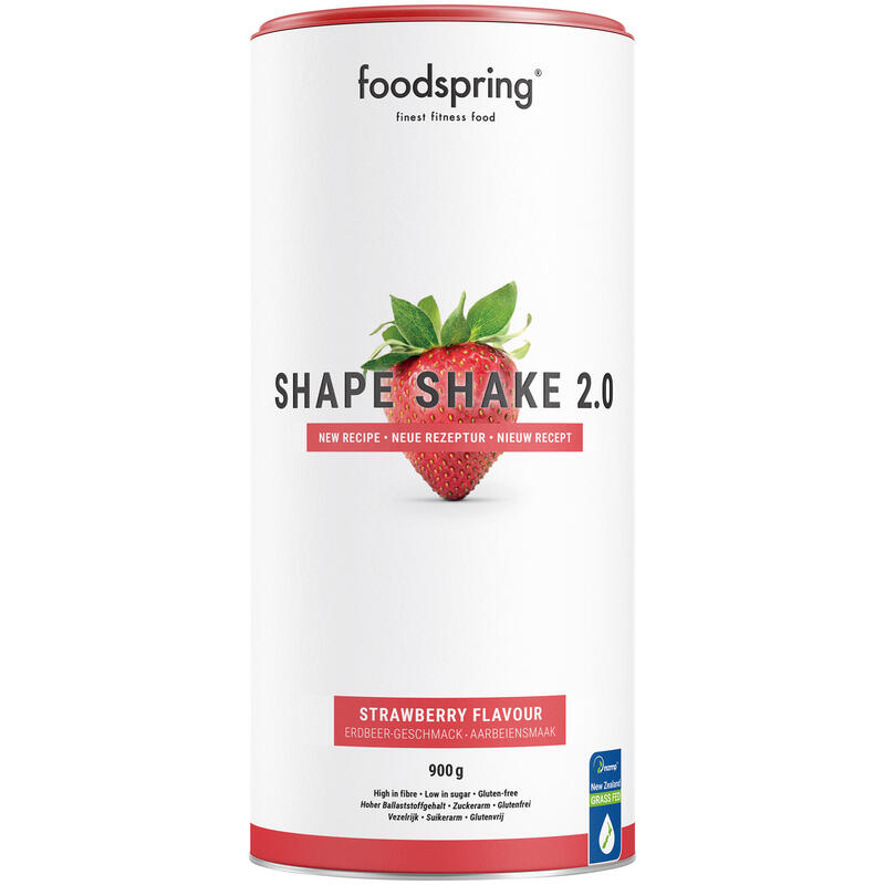 Shape Shake 2.0 Fresa Foodspring Control de Peso 900g Alto en Proteína