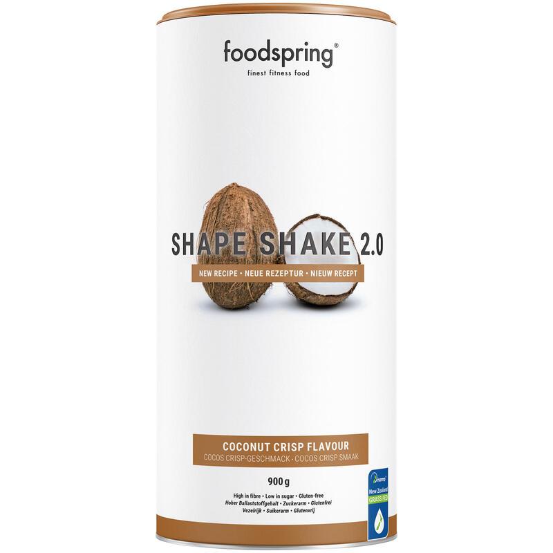 Shape Shake 2.0 Coco Crisp Foodspring Control de Peso 900g Alto en Proteína