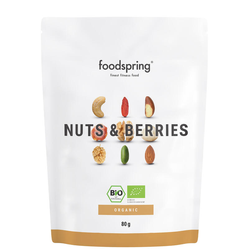 Frutos secos y bayas Foodspring pack de 8