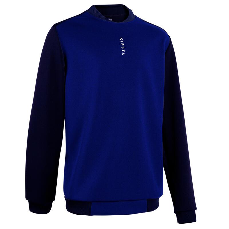 Sudadera de fútbol T100 azul oscuro