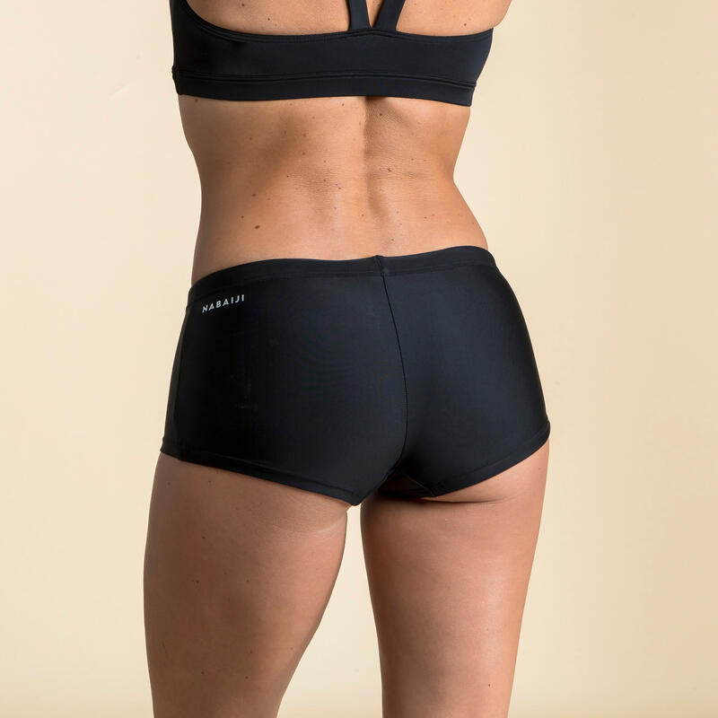 ชุดว่ายน้ำผู้หญิงแบบกางเกงขาสั้นรุ่น Vega (สีดำ)