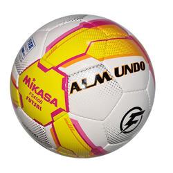 Bola de Futsal Mikasa OFICIAL 63 CM Branco/Amarelo