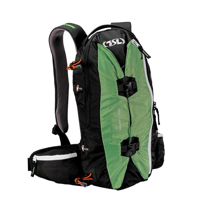 Snowshoe Backpack Dragonfly 15/30 L - Black/Green