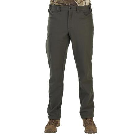 """Šiltos medžioklinės fliso kelnės """"100"""", žalios"""