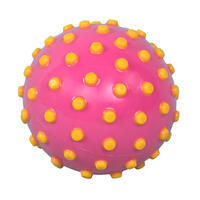Small aquatic awakening balloon, pink with yellow dots