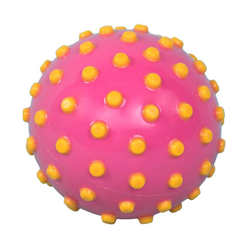 Malý míček do vody růžový se žlutými puntíky