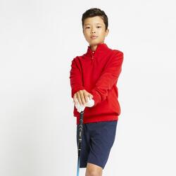 Camisola Corta-vento de Golf MW500 Criança Vermelho