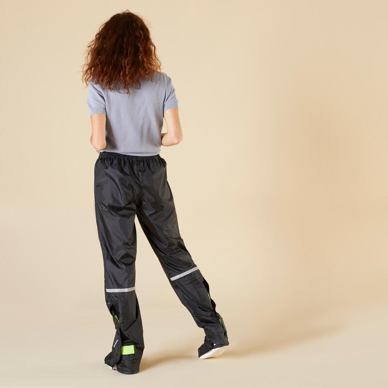 100 City Cycling Rain Overtrousers - Black