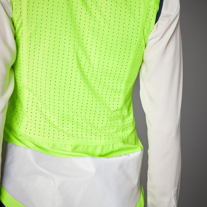 Signalweste 560 wendbar Tag und Nacht PSA-zertifiziert Damen blau/neongelb