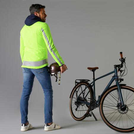 Vyriška ryški dvipusė apsauginė dviratininko striukė
