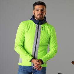 Giacca ciclismo uomo 560 certificata DPI reversibile azzurro-giallo