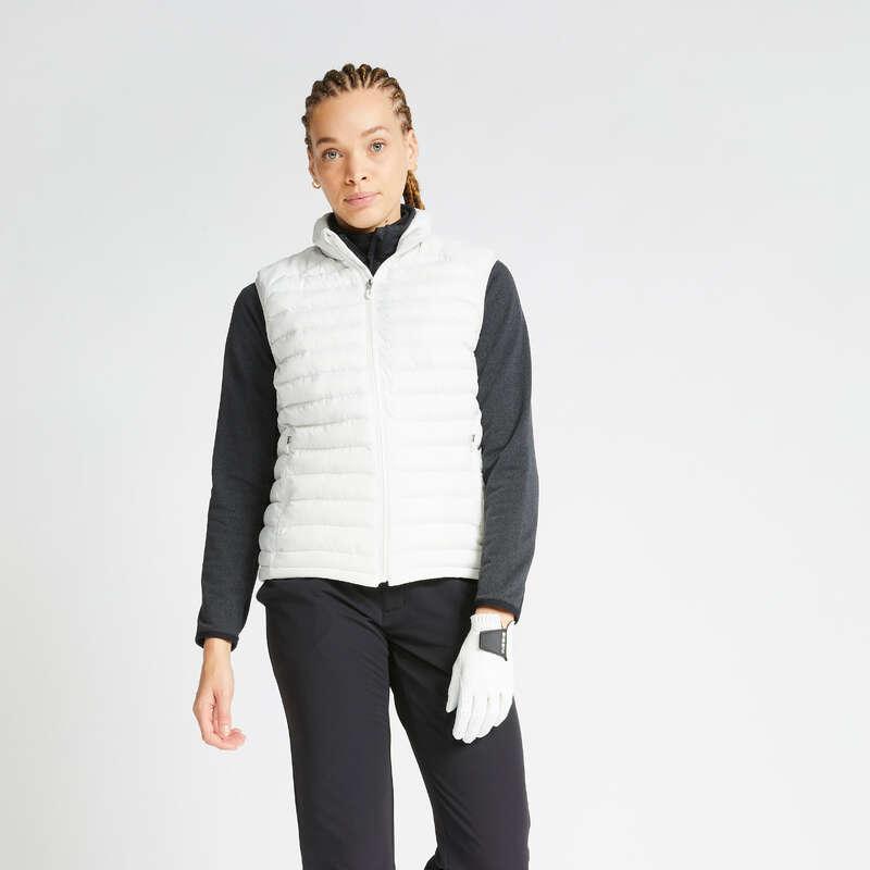 GOLFKLÄDER DAM KALLT VÄDER Golf - Täckväst CW500 dam vit INESIS - Golfmärken