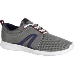 Herensneakers voor sportief wandelen Soft 140 mesh grijs / blauw