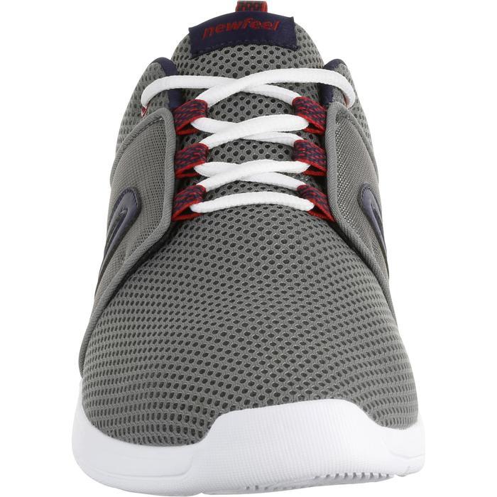 Zapatillas de marcha deportiva para hombre Soft 140 mesh gris / azul