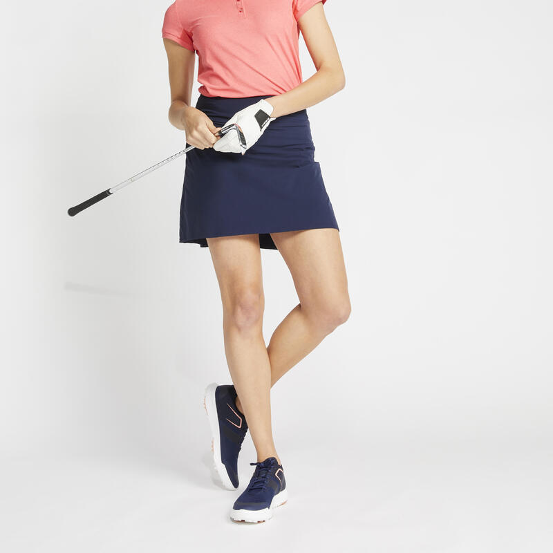 Women's golf skort WW500 navy blue