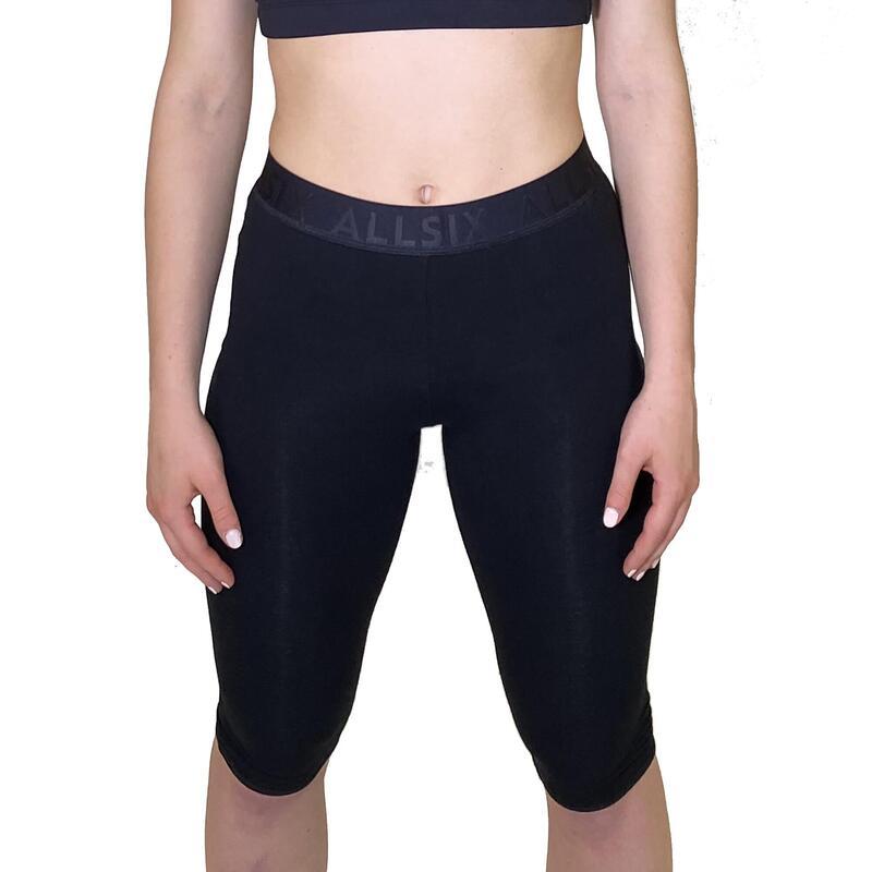 Leggings de algodón negro para jugadoras de voleibol