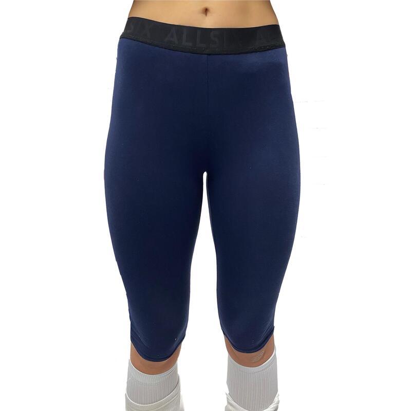 Leggings de algodón azul para jugadoras de voleibol