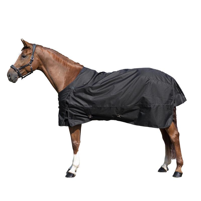 Pătură impermeabilă pentru exterior echitație ALLWEATHER 1000D negru cai