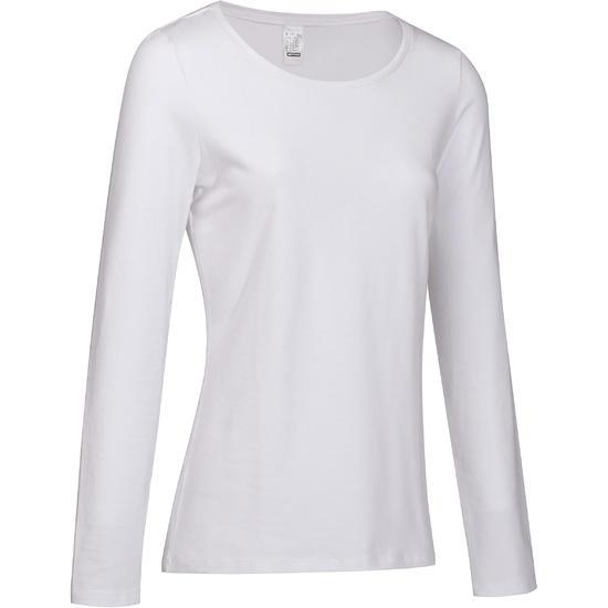 T-shirt lange mouwen gym & pilates dames felroze - 215016
