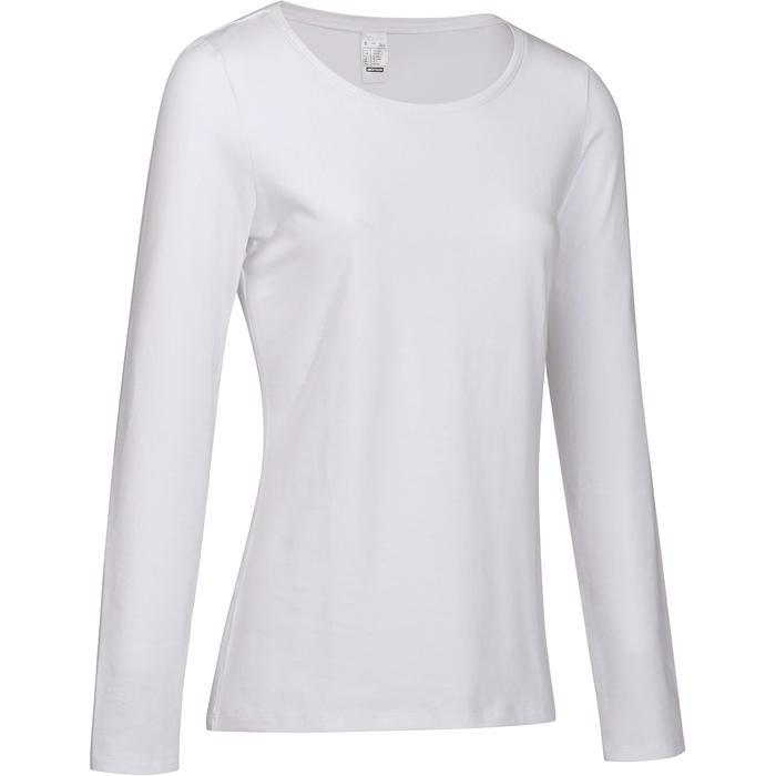 T-shirt Manches Longues 100 Femme Blanc