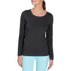 T-shirt lange mouwen gym & pilates dames felroze - 215029