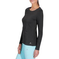 T-shirt lange mouwen gym & pilates dames felroze - 215032