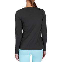 T-shirt lange mouwen gym & pilates dames felroze - 215033