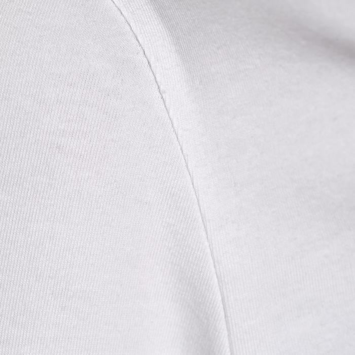 T-shirt 100 manches longues Gym Stretching femme blanc